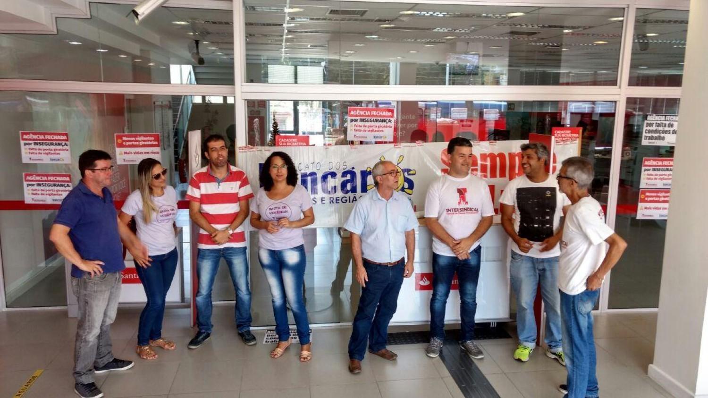 Santander arrisca a vida dos bancários em Cubatão