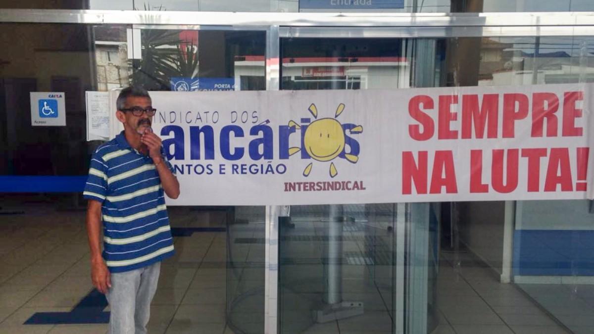 Agência da Caixa em Santos é paralisada por falta de condições de trabalho