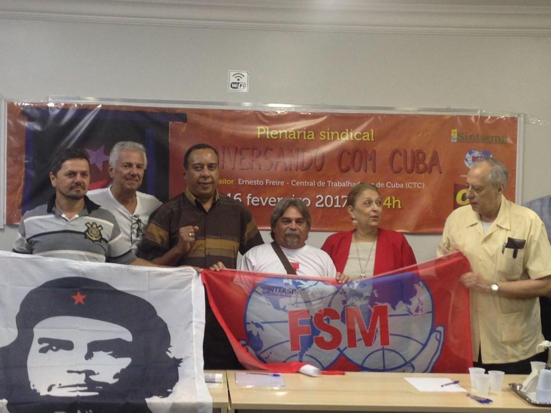 Intersindical participa de seminário com dirigente da FSM