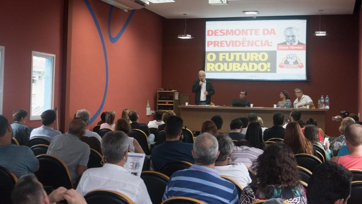 Seminário Desmonte da Previdência mostra que sem luta aposentadoria acabará