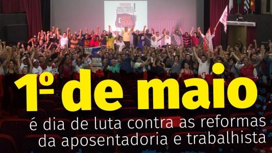 Participe: 1º de Maio Unitário na Pça. das Bandeiras em Santos/SP