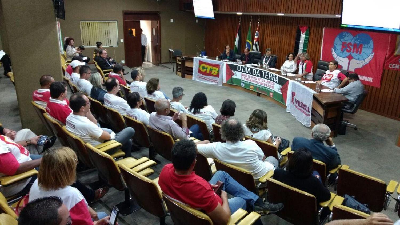 Intersindical participa de audiência pública em solidariedade à Palestina