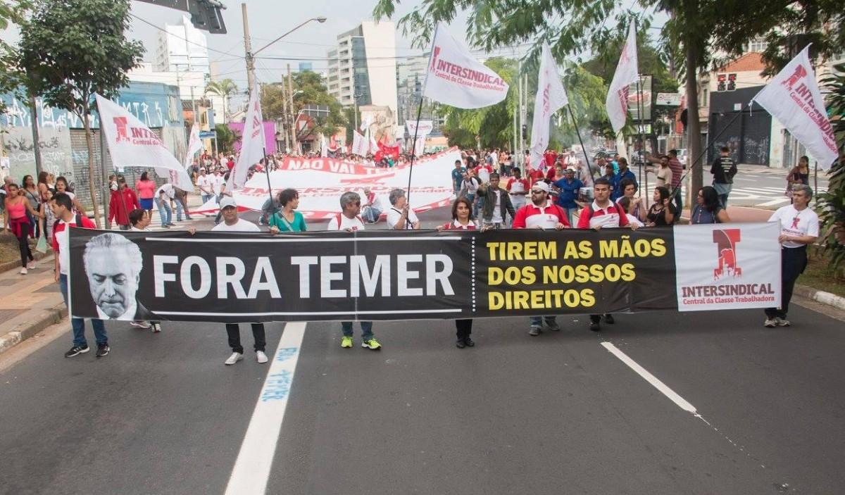 100 mil vão ocupar Brasília exigindo a renuncia de Temer por Diretas Já