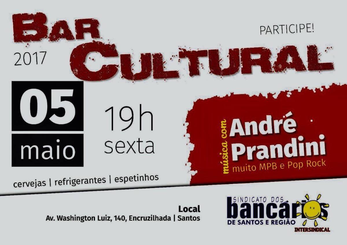 Bar Cultural acontece nesta sexta 05/05