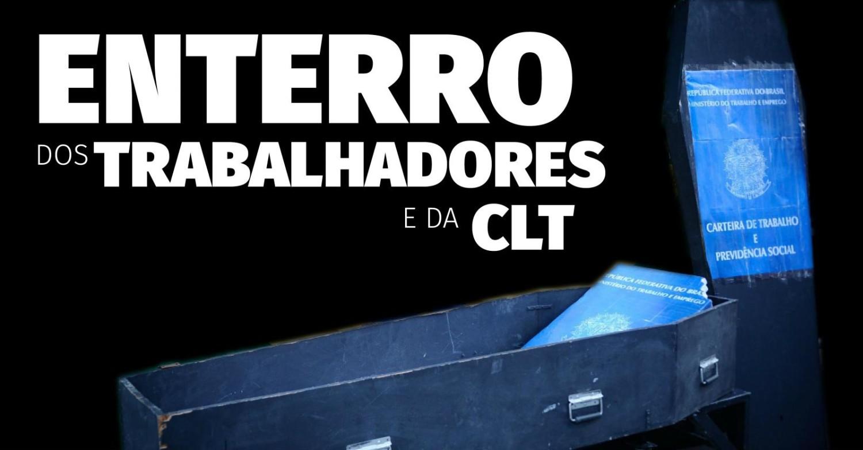 Caixão e Vela Preta na Pça. das Bandeiras, em Santos, nesta quinta, 19h