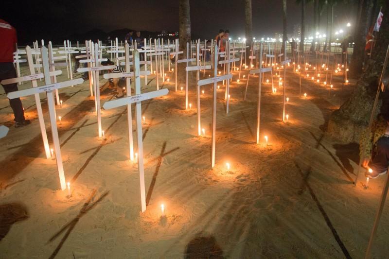Enterro dos Deputados na Praça das Bandeiras