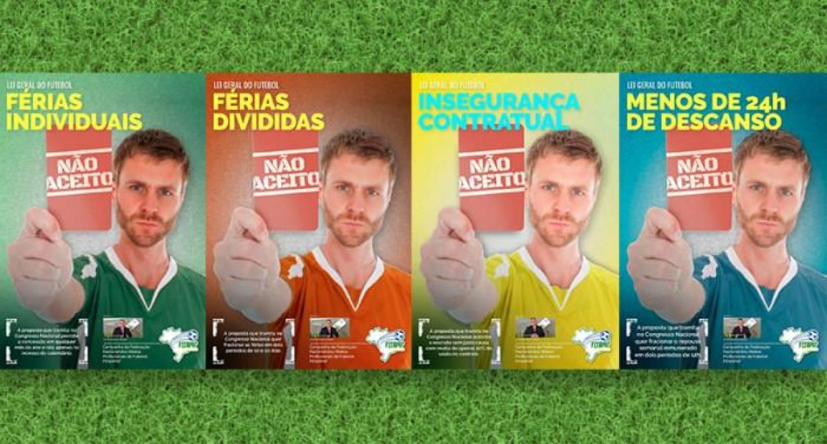 Jogadores de futebol também protestam contra a reforma trabalhista