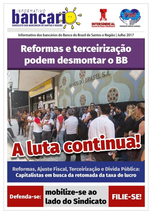 Reformas e terceirização podem desmontar o BB