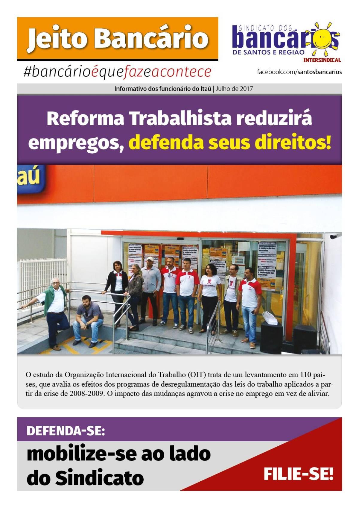Reforma Trabalhista reduzirá empregos, defenda seus direitos!