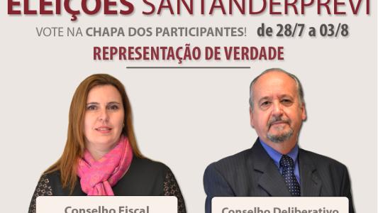 Já é agosto; Não esqueça de votar nas eleições SantanderPrevi