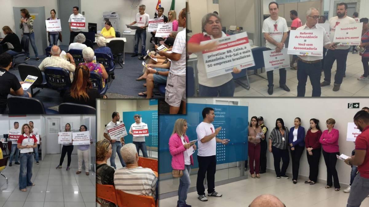 Campanha de mobilização dos bancários continua em Mongaguá e Praia Grande