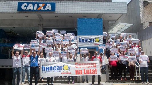 Luta continua na Baixada Santista: CAIXA 100% Pública