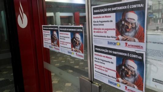 Bancários contestam nota do Santander sobre protestos