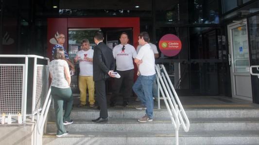 Paralisação do Santander contra a Reforma Trabalhista