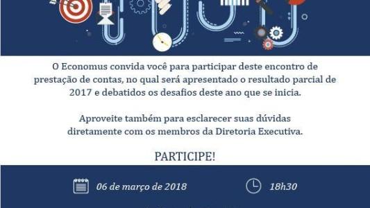 Economus fará prestação de contas no Sindicato, em Santos, dia 6/3