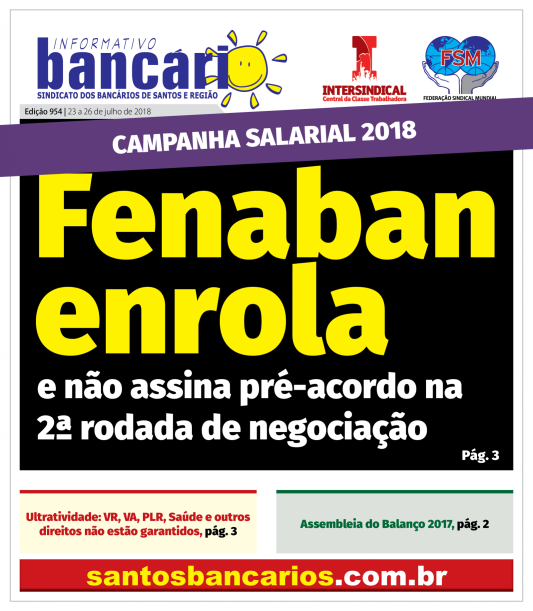 Fenaban enrola e não assina pré-acordo na 2ª rodada de negociação
