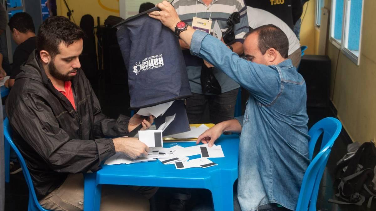 Chapa 1 dos Bancários de Santos e Região é eleita com 98,90% de aprovação