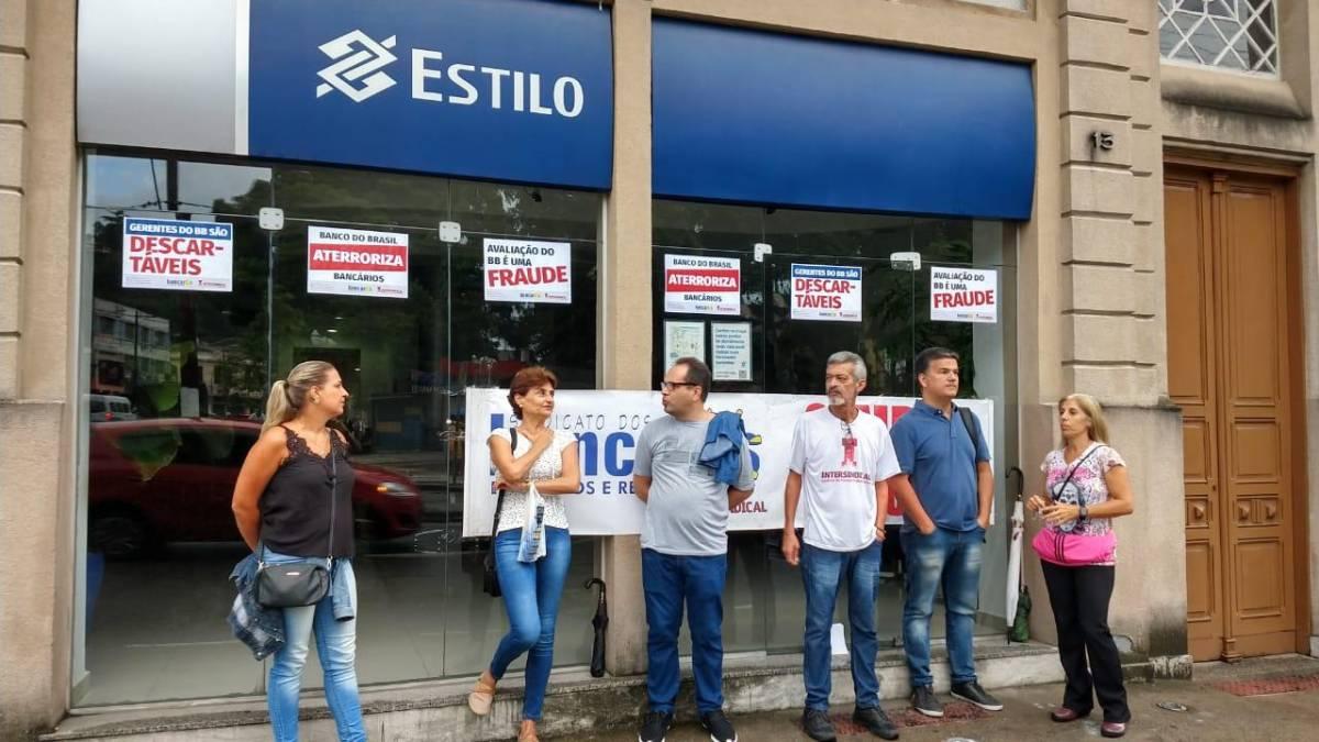 Contra descomissionamentos, Sindicato volta a fechar agências Estilo do BB