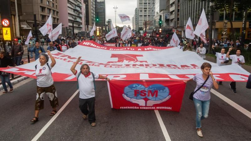 Centrais sindicais fazem manifestações contra a reforma da Previdência