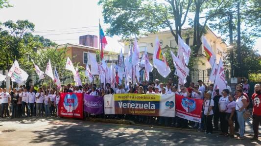 Ato da Intersindical em defesa da soberania venezuelana