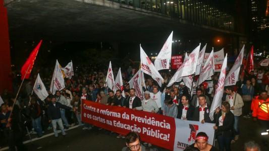 Sindicato participa de ato contra a Reforma da Previdência na Av. Paulista
