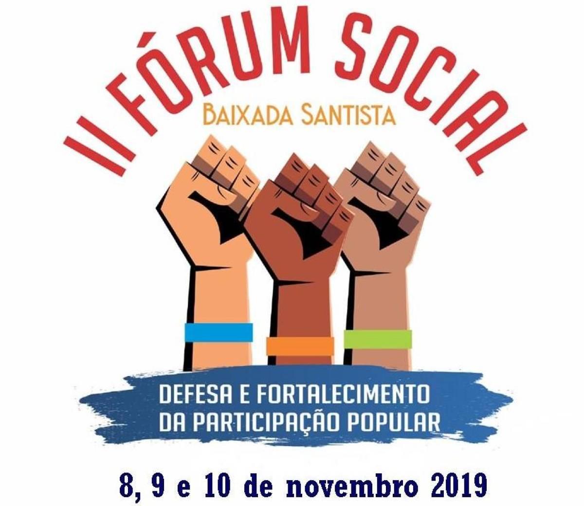 Lançamento do II Fórum Social Baixada Santista acontece neste sábado, 5/10