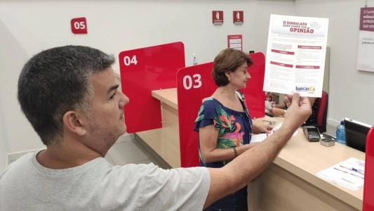 Pesquisa de reivindicações ao acordo aditivo dos bancários do Santander