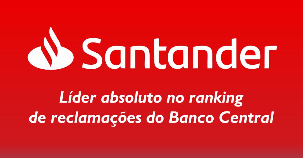 [Santander é campeão de reclamações ao BC]
