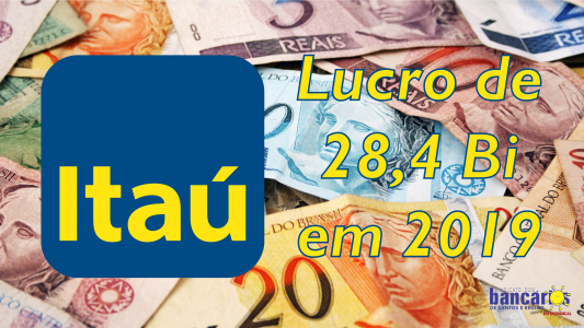 Itaú Unibanco tem lucro líquido de R$ 28,4 bilhões em 2019