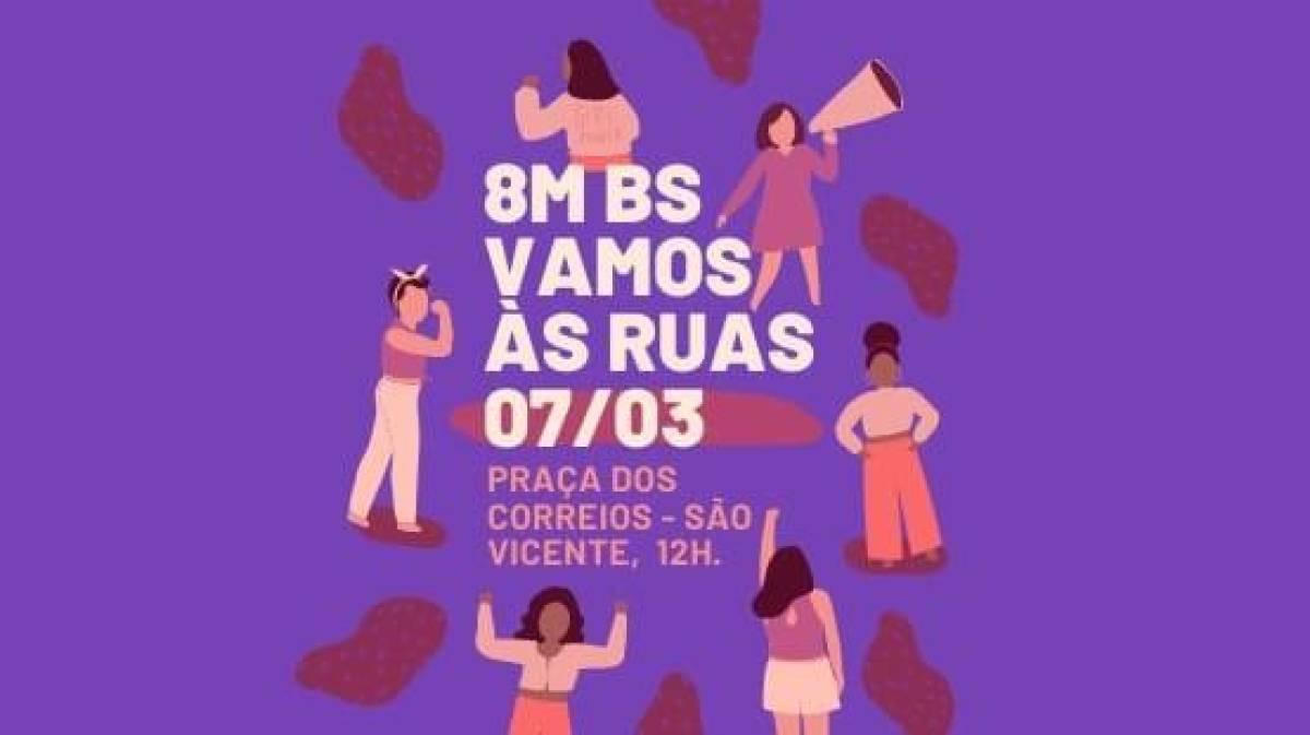 Mulheres da Baixada Santista realizam ato marcha no dia 7 de março, em São Vicente