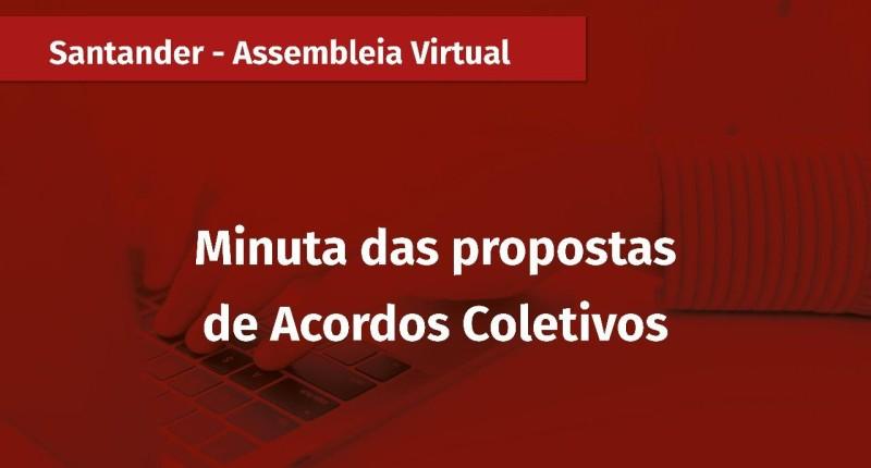 Minuta e termos para renovação do ACT com Santander