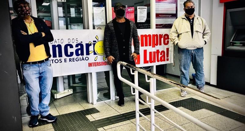 Sindicato paralisa Bradesco de Itanhaém/SP
