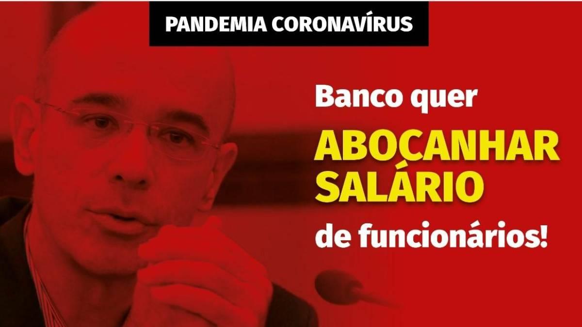 Bancário em home office pode abdicar voluntariamente de benefícios ou parte do salário, diz presidente do Santander