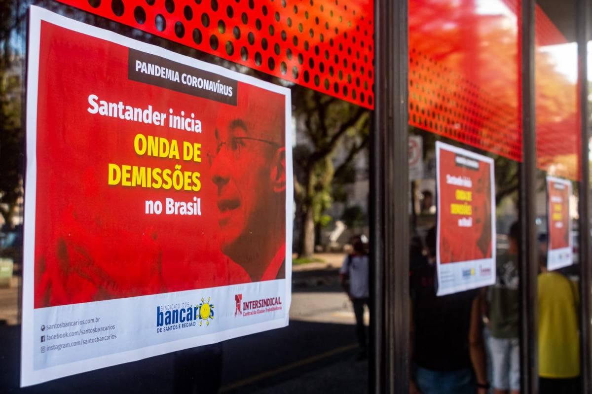 Campanha internacional pede apoio contra demissões do Santander