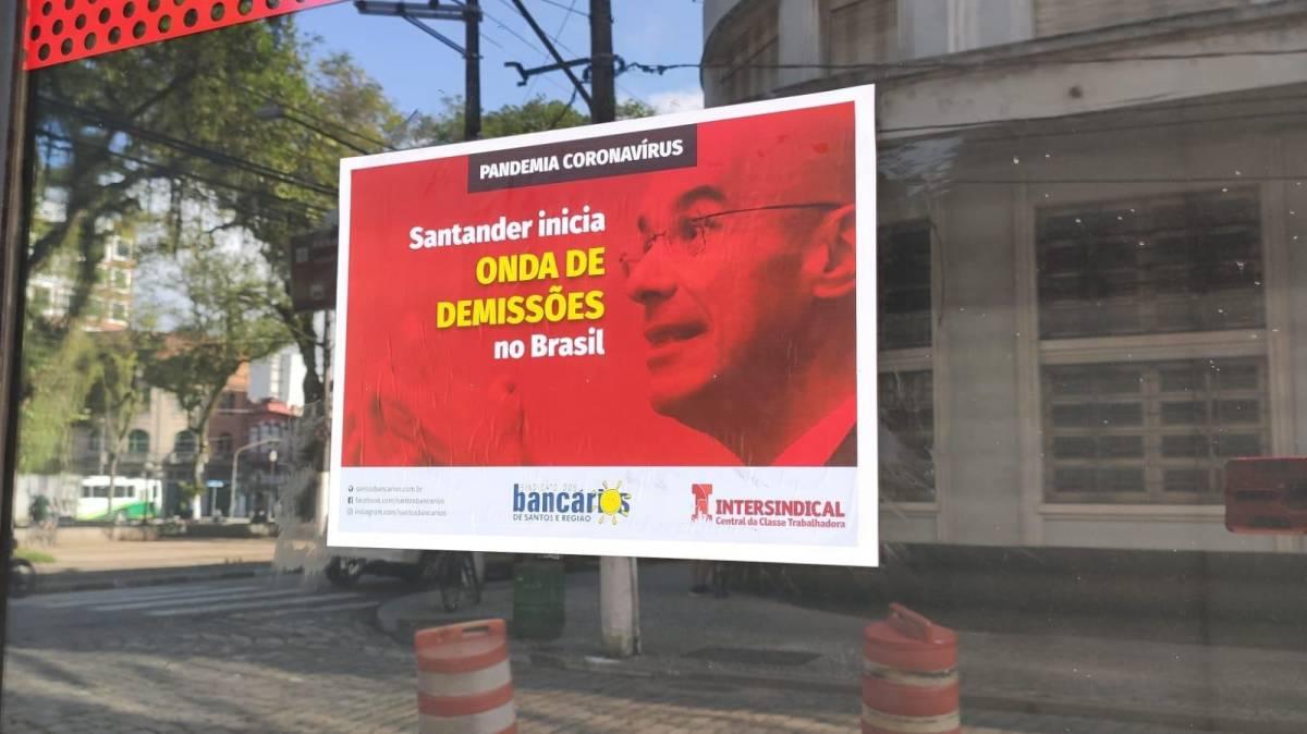 Santander cria motor de adoecimento e garante o 'prêmio' de 1° banco a demitir durante a pandemia