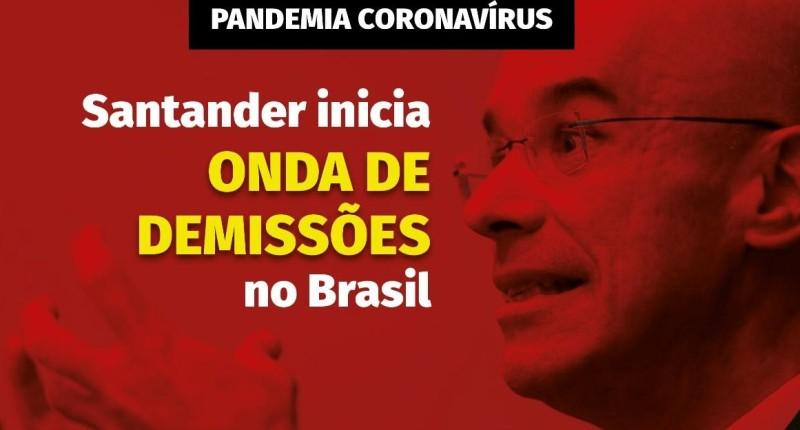 Santander cancela reunião sobre demissões