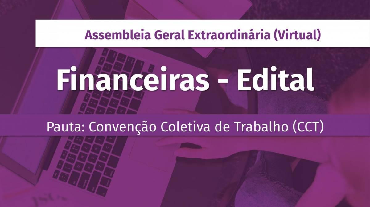 Financiários: Assembleia para deliberar sobre CCT será dias 21 e 22/10