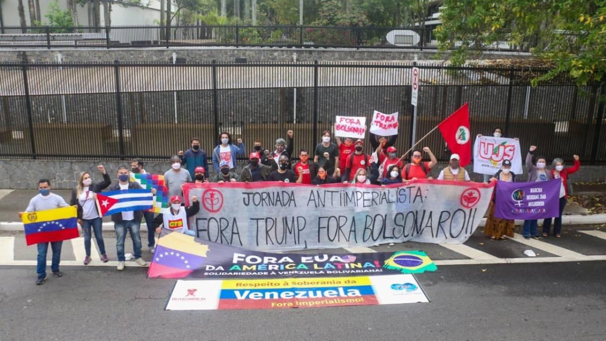 Ato contra o imperialismo de Trump e a destruição do Brasil por Bolsonaro