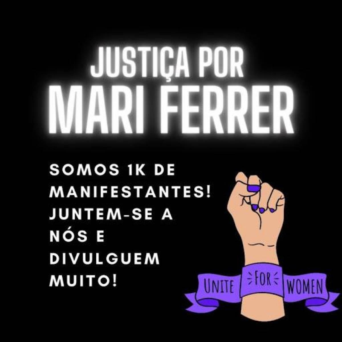Ato denuncia violência contra mulheres e pede justiça para Mari Ferrer