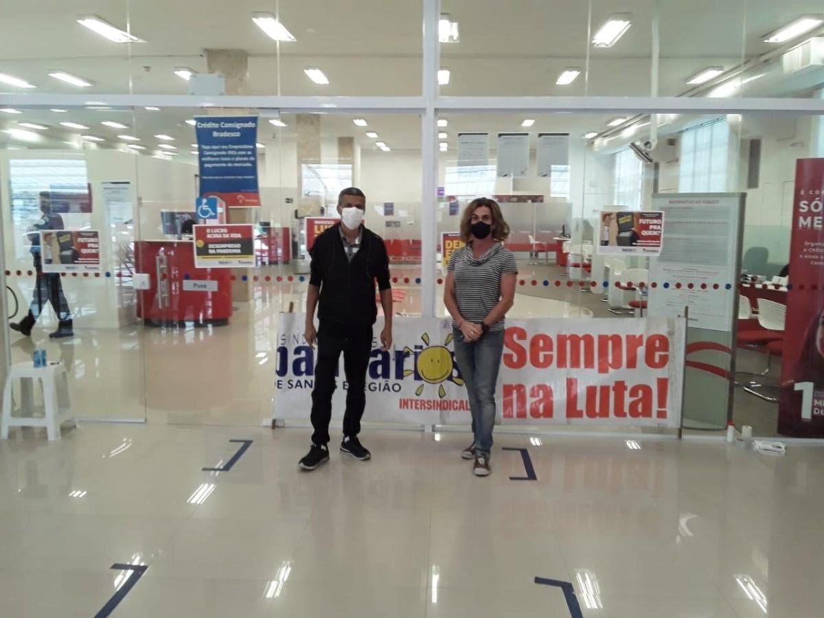 Bradesco: Sindicato faz protesto hoje contra demissões na Baixada Santista