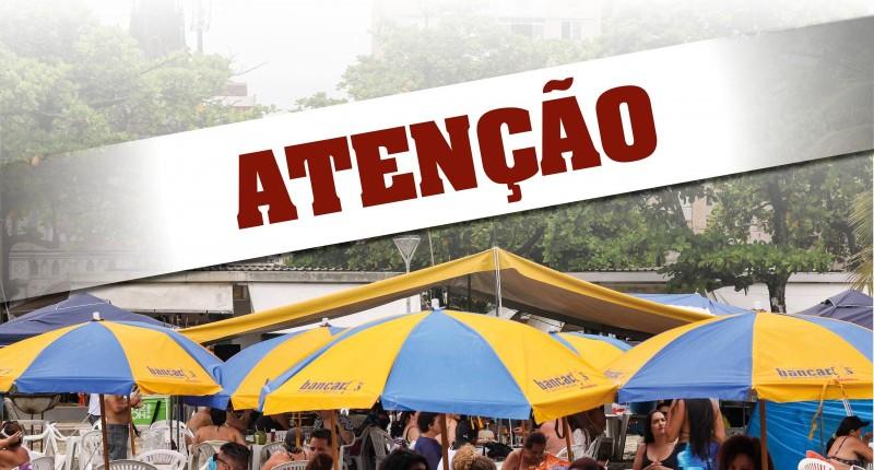 Barraca de praia do Sindicato não funcionará nos dias 16 e 17 de janeiro