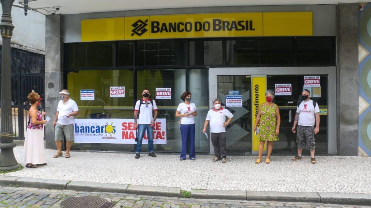 Funcionários do Banco do Brasil em greve, hoje/sexta-feira (29)