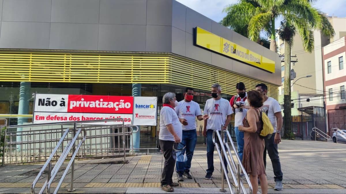 Bancários do BB na Baixada Santista em greve de 24h, hoje 10/2
