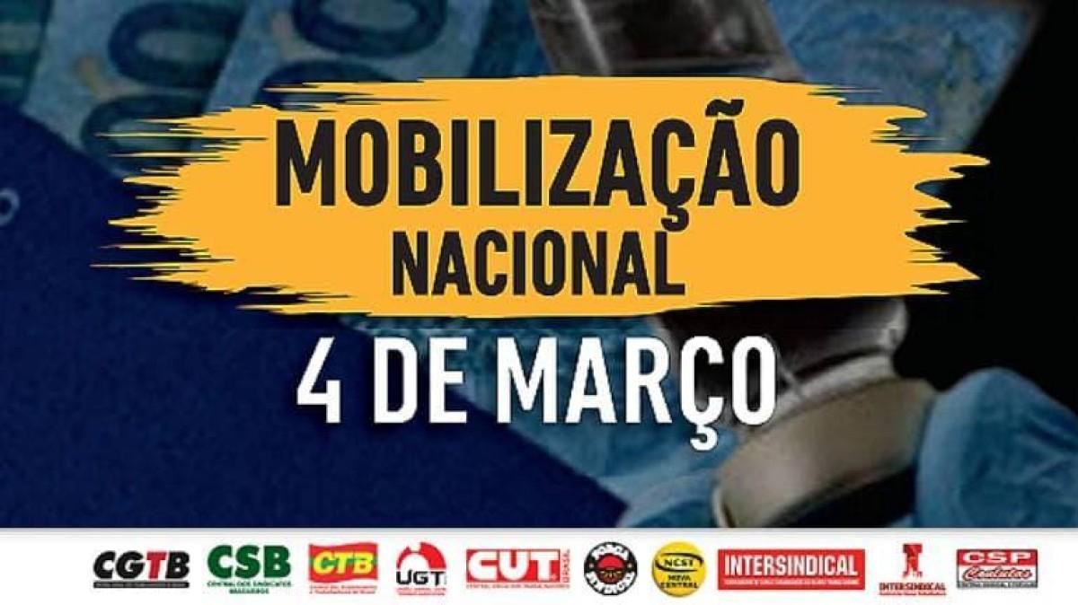 Neste 4 de março: Auxílio Emergencial, Vacina Já e Emprego para todos!