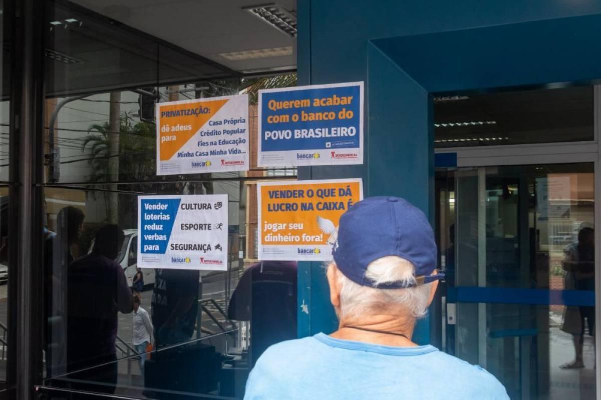 Empregados Caixa lutam por melhores condições de trabalho nesta terça, 27