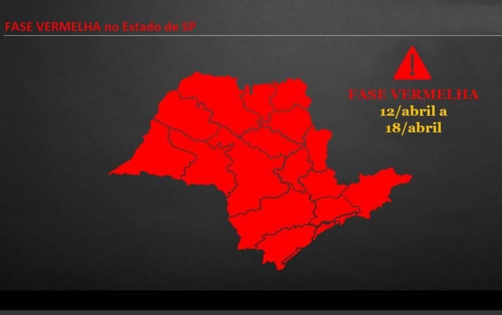 São Paulo avança para a fase vermelha, toque de recolher é mantido