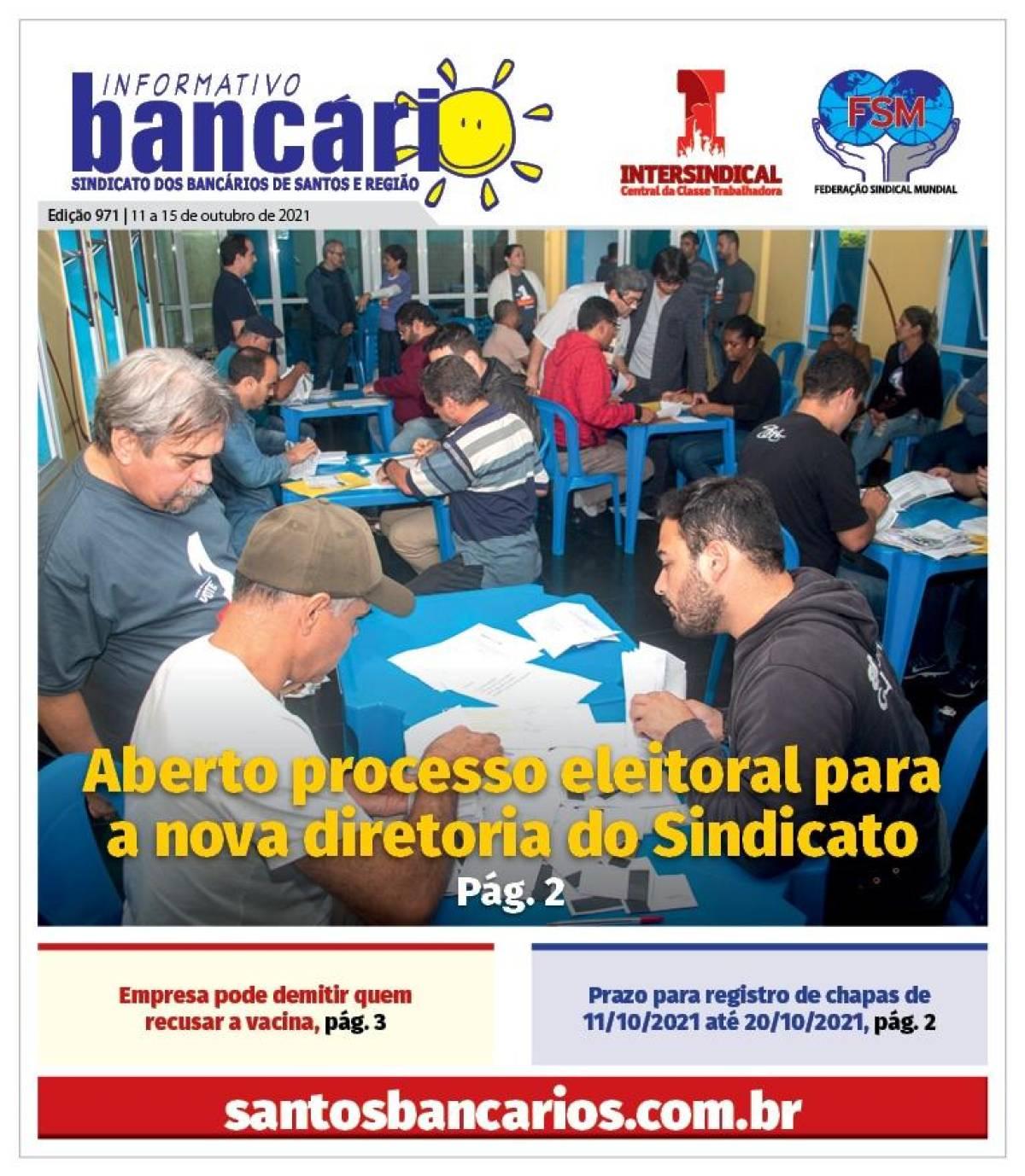 Aberto processo eleitoral para a nova diretoria do Sindicato