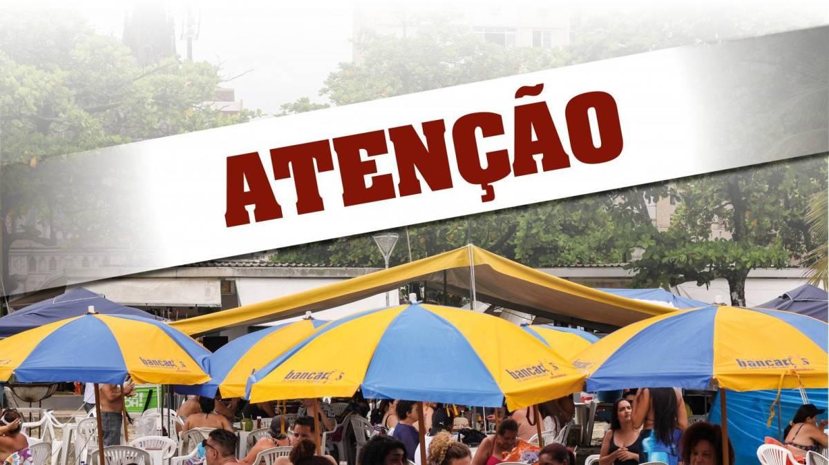 Barraca de praia do Sindicato não será montada nos dias 16 e 17 de outubro