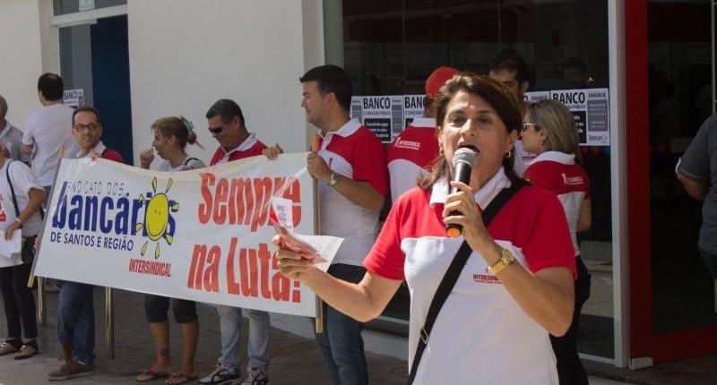 Bancários se mobilizam contra demissões do Bradesco