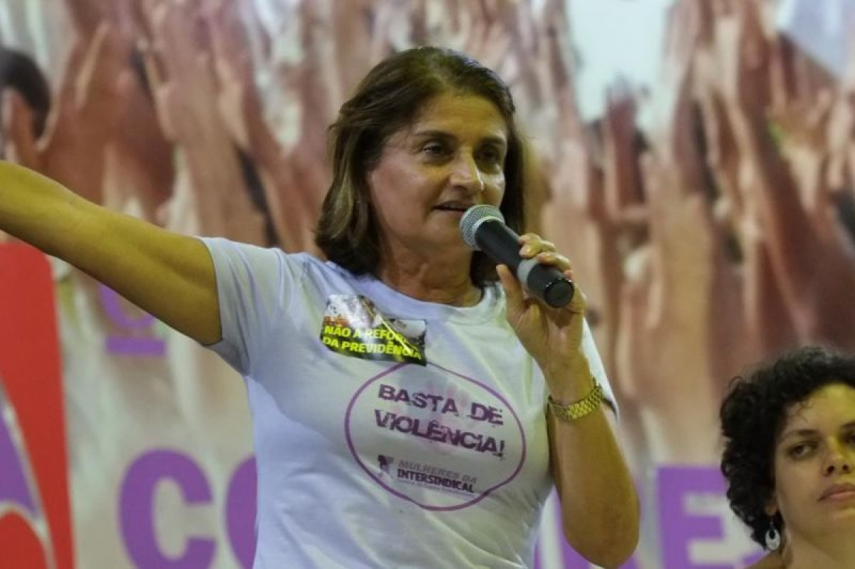 Participação de Eneida Koury no 1º Encontro das Mulheres da Intersindical